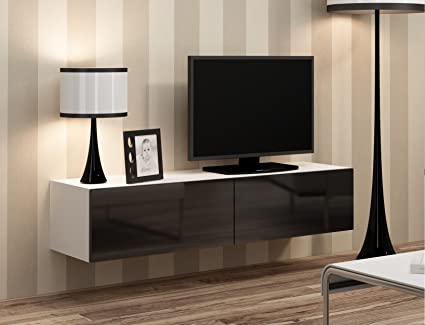 BMF Vigo TV Flotante montable en Pared Unidad DE Alto Brillo ...