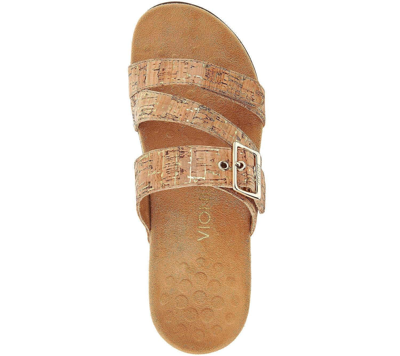 Vionic Womens Rest Skylar Slide Sandal Adjustable Walking Sandals with Concealed Orthotic Arch Support