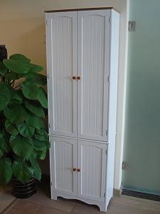 Homecharm-Int 23.8x11.8x 72.2-Inch Storage Cabinet,White(HC-004)