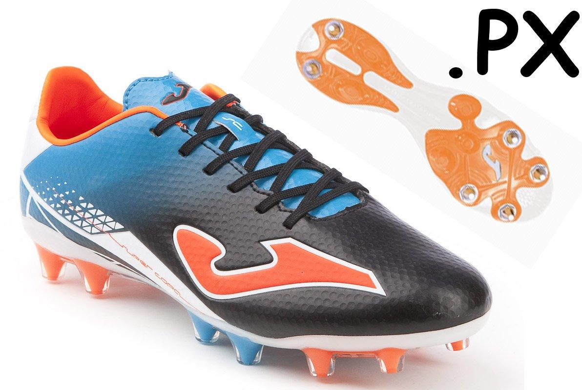 Joma Fussballschuh Supercopa Speed Mischsohle Gr. 40.5 schwarz blau orange