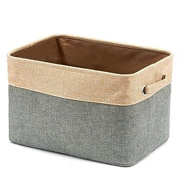 Storage Baskets Collapsible Large Laundry Clothing Organizing Storage  Baskets Cotton Linen Storage Organizer Open Top Storage