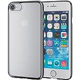 エレコム iPhone7ケース [iPhone8対応] シェルカバー サイドメッキ クリア ブラック PM-A16MPVMBK