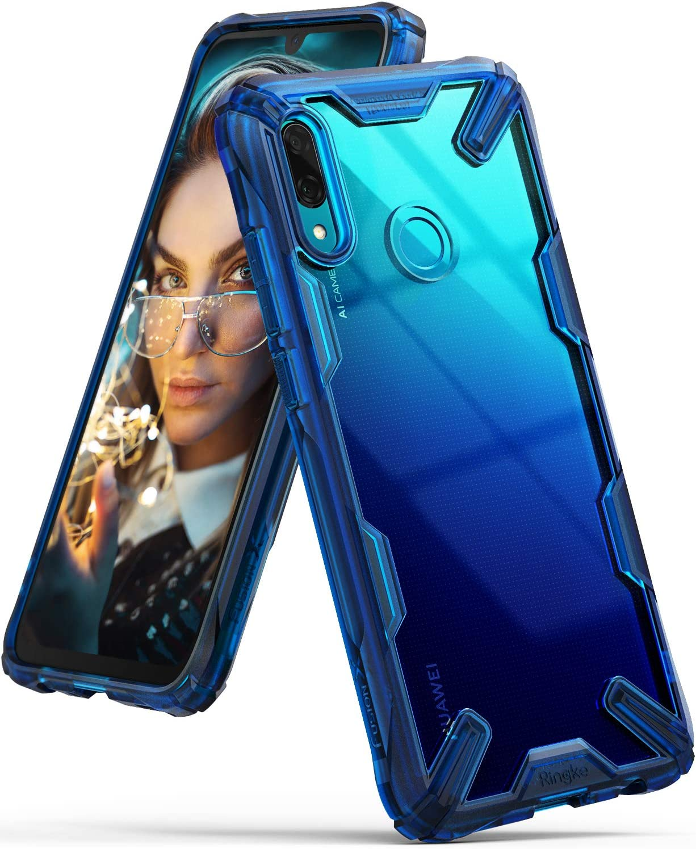 Ringke Coque Huawei P Smart 2019 [Fusion-X] Transparente Antichoc de Protection [Militaire Défense Testée] Résistant aux Rayures PC Solide Rigide TPU ...