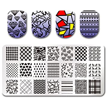Amazon.com : Born Pretty Nail Art Stamping Plate Stamp Template ...