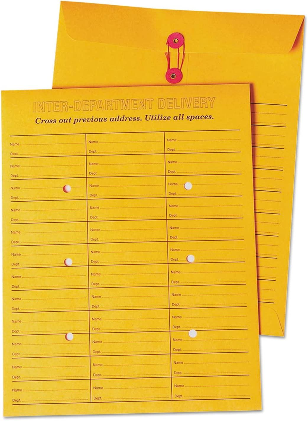 Quality Park 63663 Inter-Office Envelopes 100//BX White 10-Inch x13-Inch