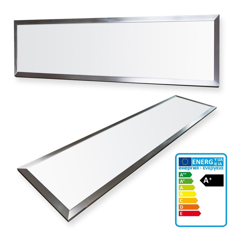 LEDVero 1er Set 120x30cm Ultraslim LED Panel 36W, 3000lm, 4500K Deckenleuchte mit Befestigungsclips und EMV2016 Trafo -Neutralweiß- Energieklasse A+