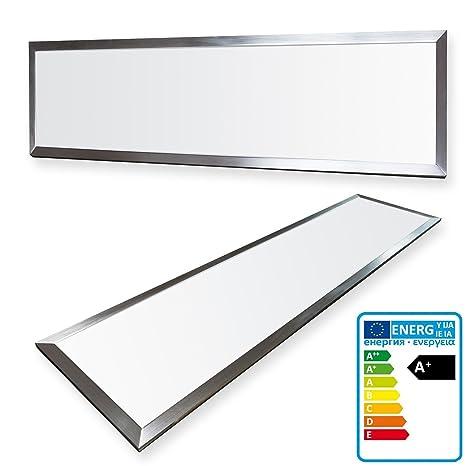 LEDVero 1er Set 120x30cm Ultraslim LED Panel 36W, 3000lm, 4500K Deckenleuchte mit Befestigungsclips und EMV2016 Trafo -Neutra
