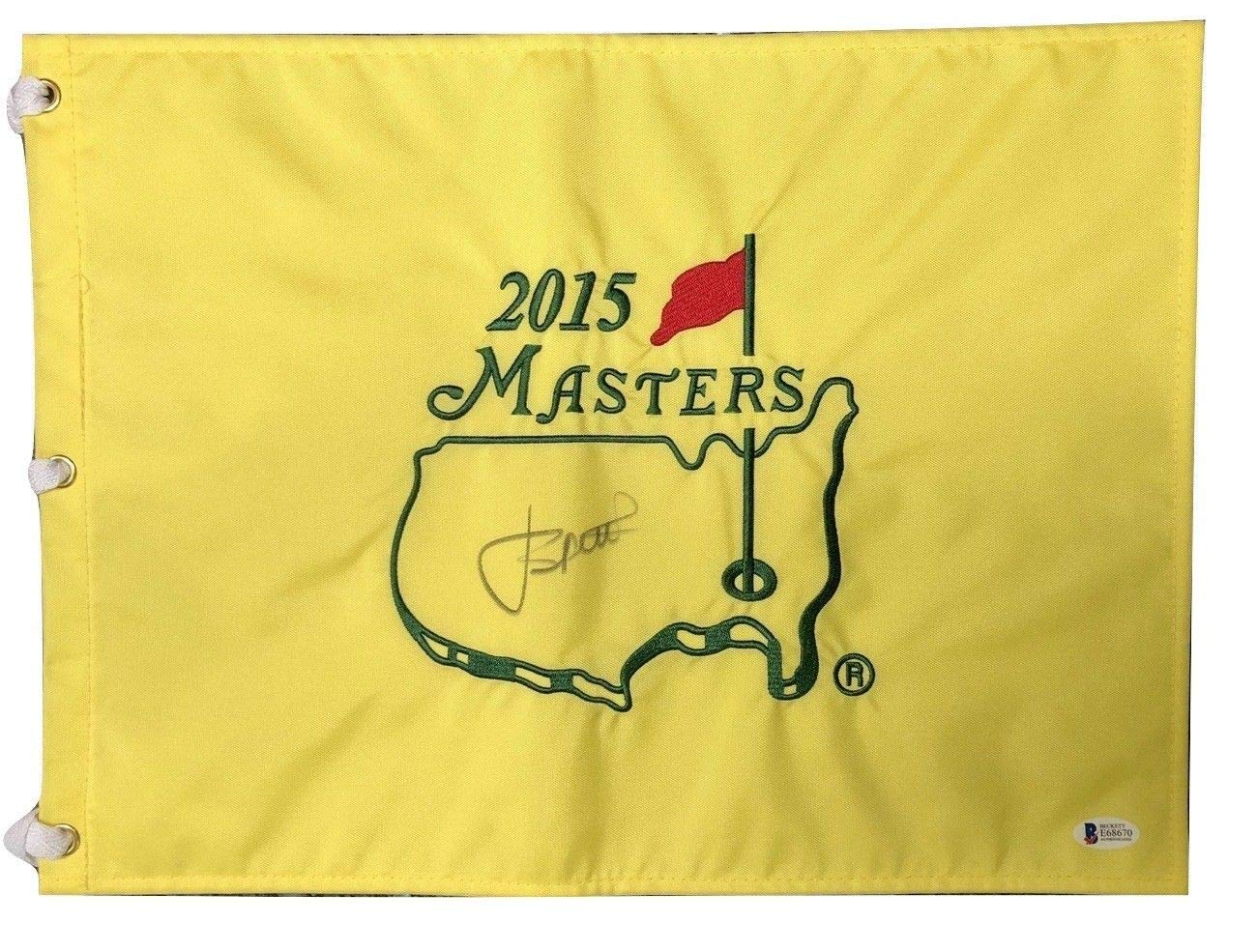 Jordan Spieth Signed Autographed 2015 Masters Flag BECKETT