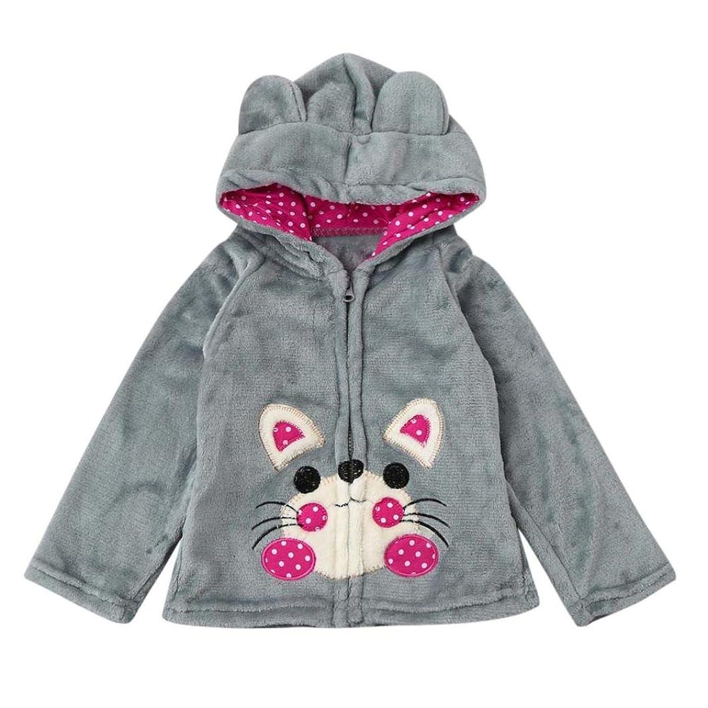 1-5 ans Fille HIver Parka Manteau Velours Vêtement D'hiver Blouson Peluche