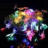 3M ledバッテリーフェアリーストリングライト イルミネーションライト led イルミネーション 電池式 クリスマス 飾りライト  5つ星のスター コンセント不要  クリスマスパーティーウェディング用 カラフル
