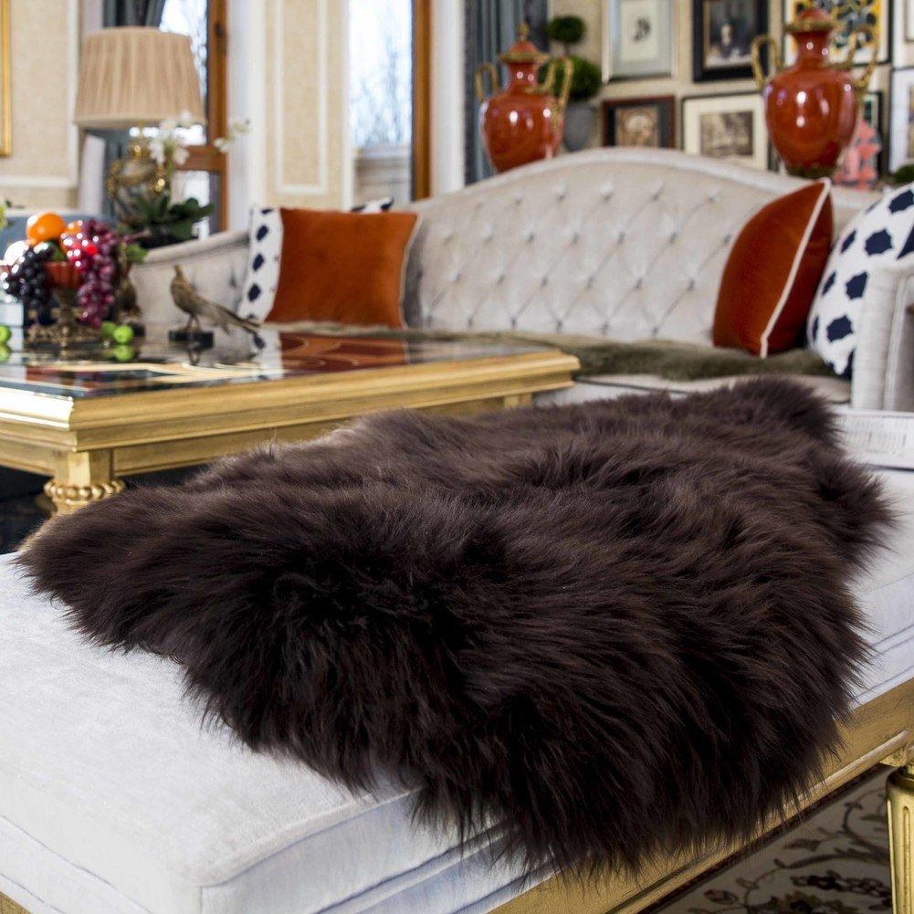 Seat cover,Sofa cushions [winter] Anti-skidding Chair cushion Plush Rug Shaggy-D 55x95cm(22x37inch)