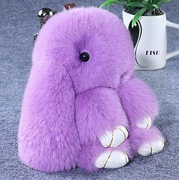 Amazon.com: 1 pc Mini bolsillo esponjoso conejo llavero ...