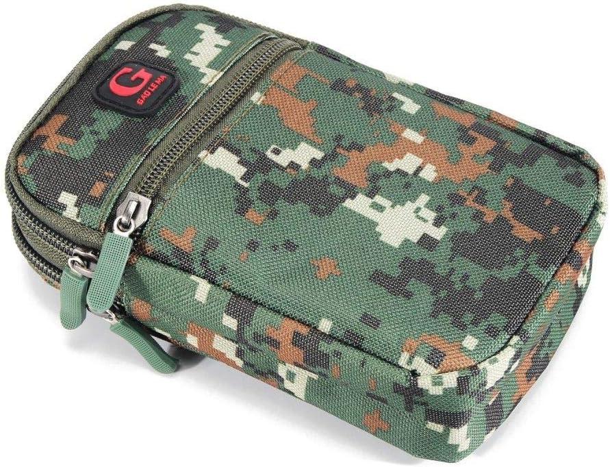 17.5 x 10 cm - GREEN Multipurpose Belt Case Naval Military Army Camouflage for LG SPIRIT 4G LTE H440N DFV mobile 3G//LTE