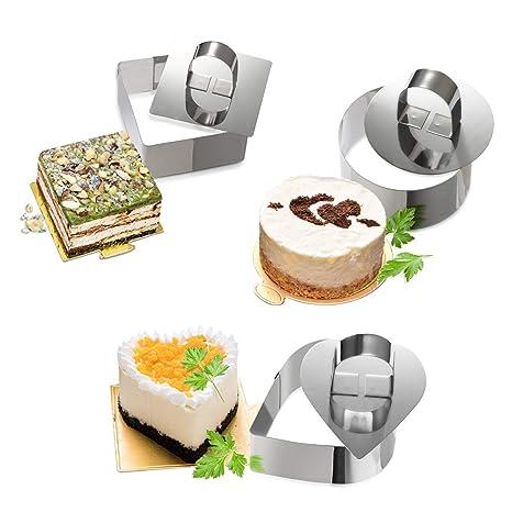 Amazon.com: Moldes para tartas, Anillos para tartas Goowin ...