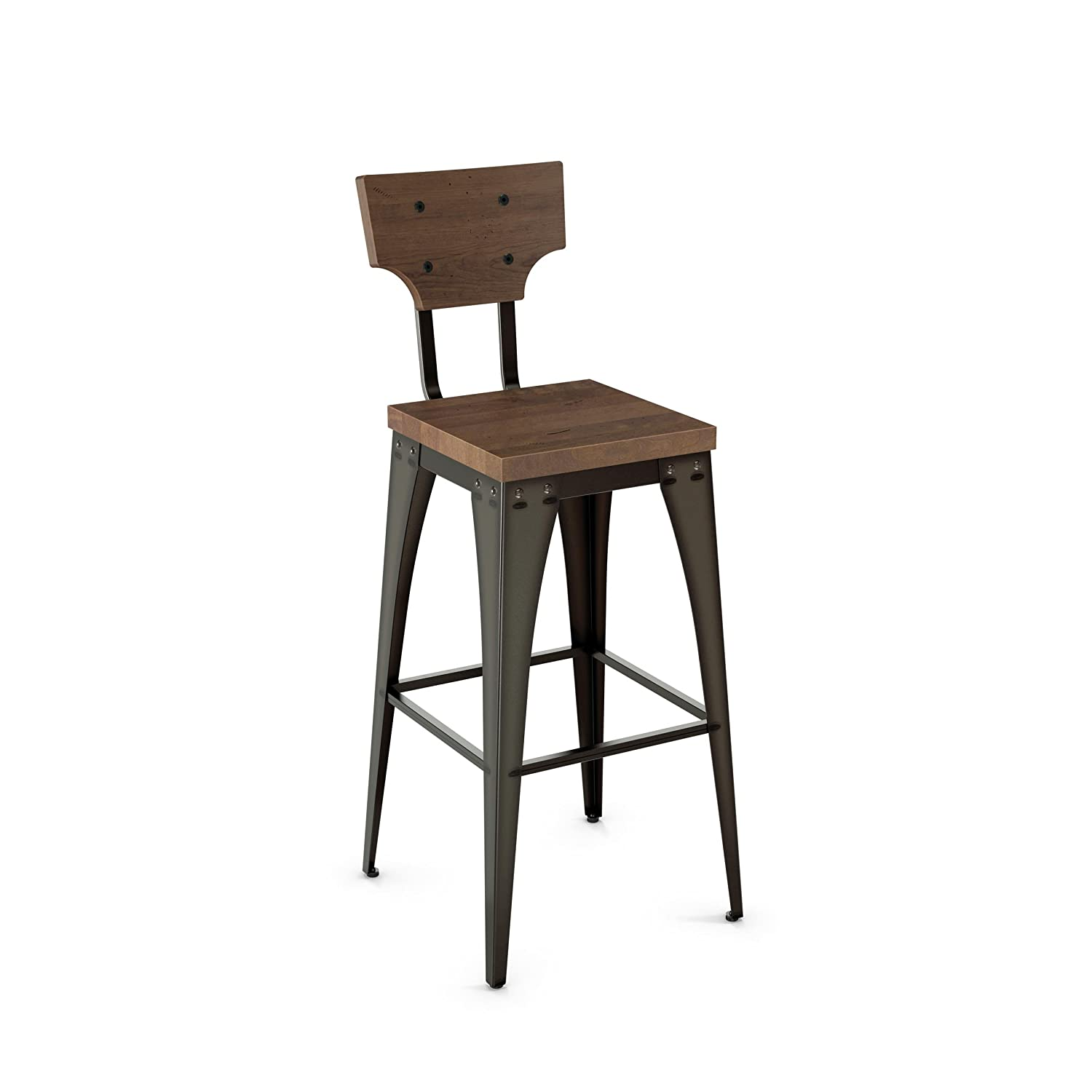 Tremendous Amazon Com Amisco Station Metal Bar Stool In Semi Gmtry Best Dining Table And Chair Ideas Images Gmtryco