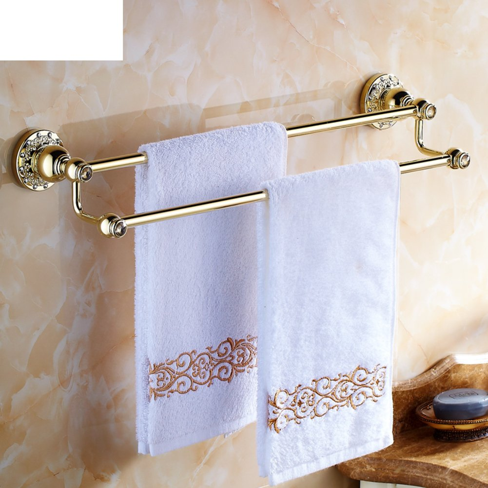 hot sale Carved Towel rack/Brass double Towel Bar/Bathroom accessories/European antique Towel Bar-B