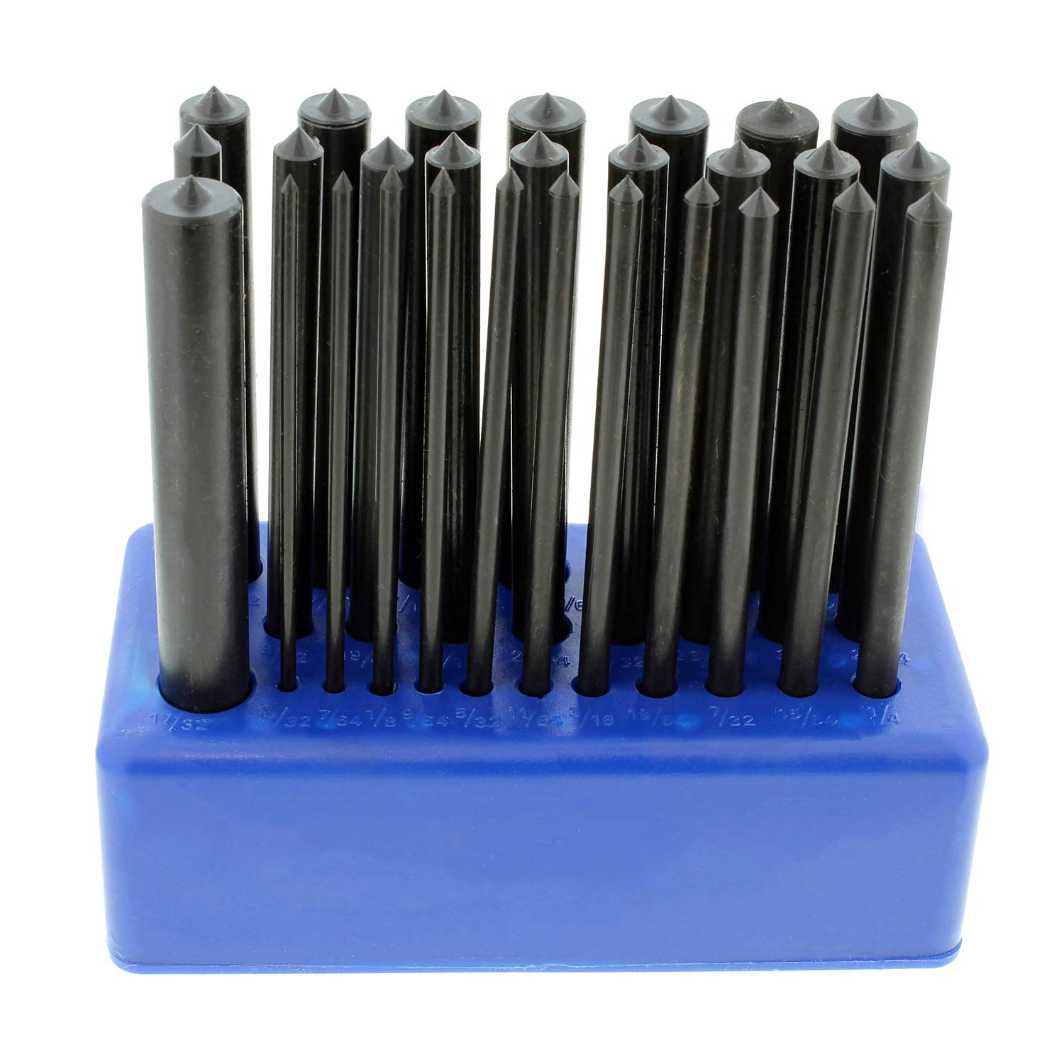 ABN Hole Transfer Punch Set for Steel, Wood, Etc - SAE Transfer Set - 28 Piece Transfer Punch Set 3/32 to 17/32in by ABN