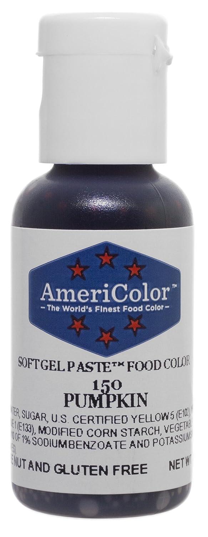 Americolor Soft Gel Paste Food Color, Pumpkin, .75 Ounce Bottle
