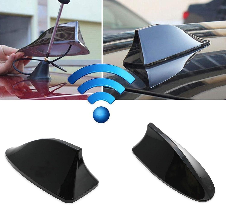 Antenne de voiture Aileron de requin AM FM Radio Signal Antenne Ruban adh/ésif Base pour Voiture SUV Camion Van Universel Noir