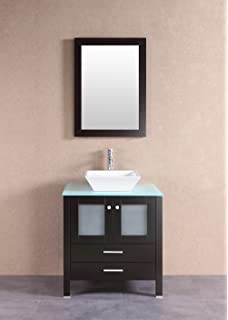Elimax S Solid Wood Vanity Cabinet Stone Top Inch