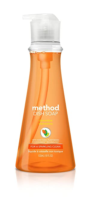 Method Naturally Derived Gel Dish Pump, Clementine, 18 Ounce
