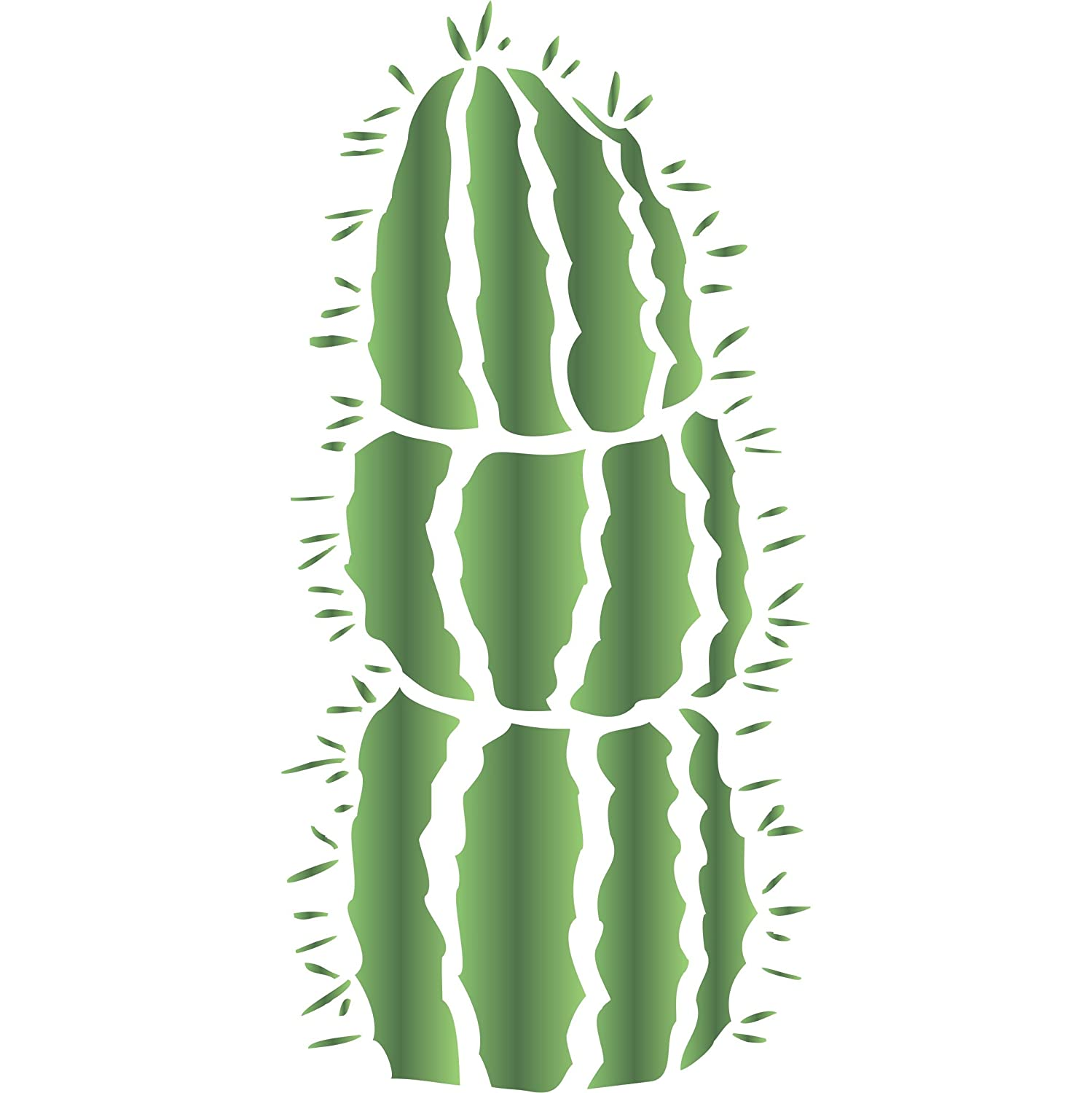 Amazon mexican fence post cactus stencil size 65w x 14h amazon mexican fence post cactus stencil size 65w x 14h reusable wall stencils for painting best quality cactus wall decor ideas use on amipublicfo Gallery