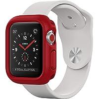 RhinoShield Coque Bumper pour Apple Watch Series 1 / Series 2 / Series 3-38 mm [CrashGuard NX] Protection Fine Personnalisable avec Technologie Absorption des Chocs - Rouge