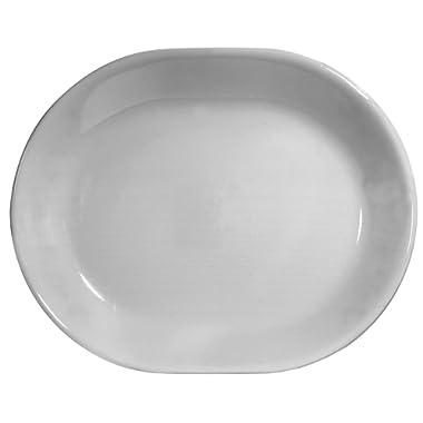 Corelle Livingware 12-1/4-Inch Serving Platter, Winter Frost White