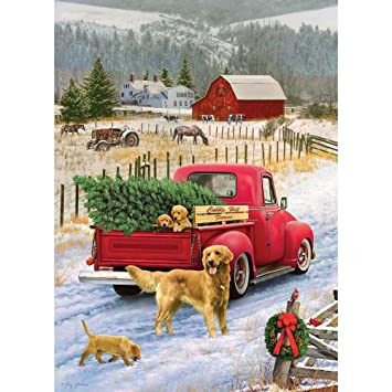 Cobble Hill 51833 - G. Giordano: Christmas on the farm - puzzle 1000 piezas