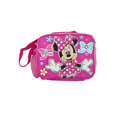 Disney Minnie Mouse Insulated Lunch Bag with Shoulder Strap: Toys And Games: Kitchen & Dining