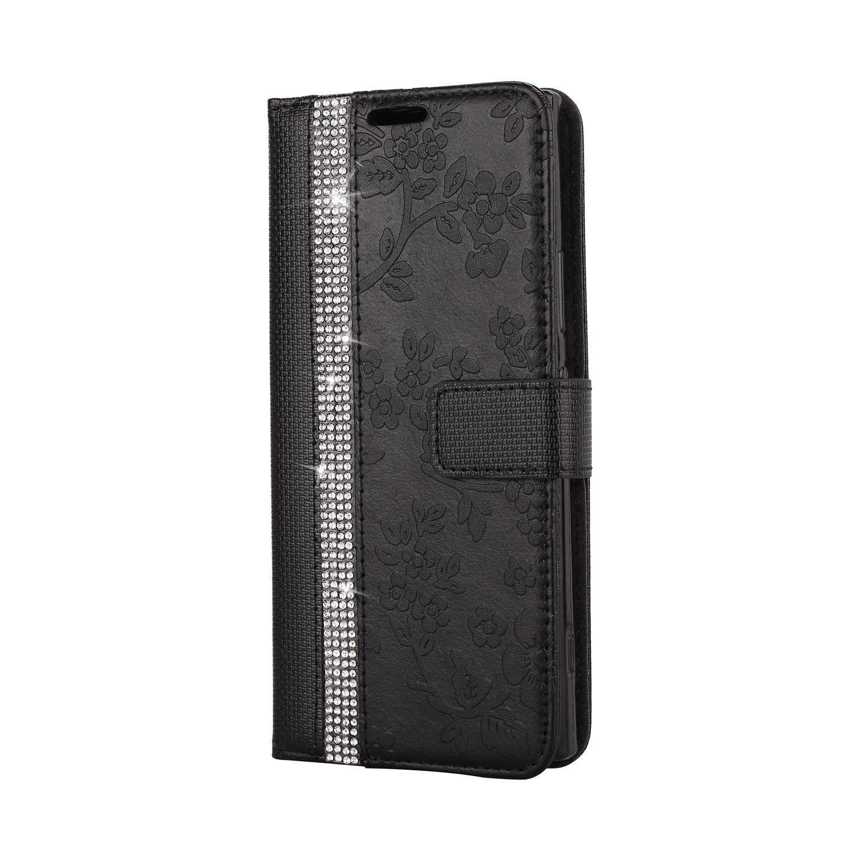 TPU Bumper Flip Schutzh/ülle Kompatibel Sony Xperia XA1 mit Karte Schlitz Gold SONWO PU Leder Brieftasche Flip Schutzh/ülle Sony Xperia XA1 H/ülle