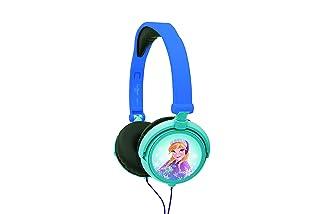 Disney Frozen - Il regno di ghiaccio Ragazze Cuffie - blu design Anna/Elsa Potenza sonora limitata archetto regolabile pieghevoli Blu/Blu chiaro Lexibook HP010FZ