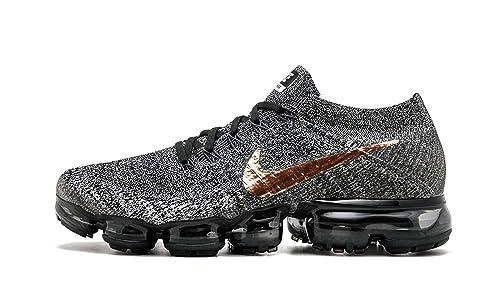 on sale ea6cc 1153f Nike849558 004 - Lab Air Vapormax Flyknit Hombre, Negro (Black Metallic  Red Bronze), 47 EU  Amazon.es  Zapatos y complementos
