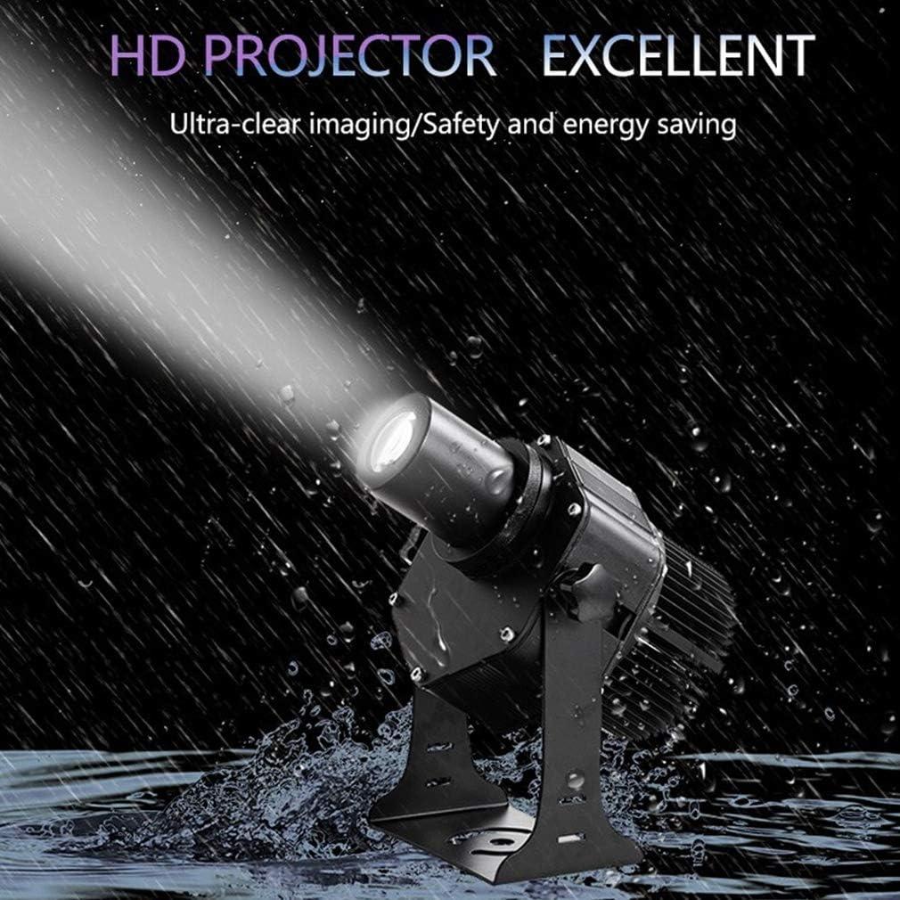 WUZHENG GOBO Logo Projector Light Outdoor IP65 Waterproof for Company Wedding Restaurant Shop Hotel Advertising Sign,Black,40w