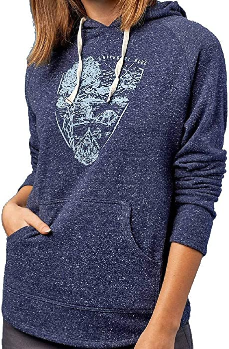 9f1cc2a424b5 Amazon.com: United By Blue Women's Parks Pennant Hoodie Navy X-Small:  Clothing