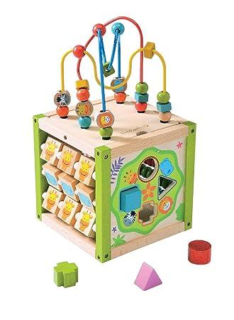 EverEarth 7 in 1 großes Garten-Spielcenter aus zertifiziertem Holz Holzspielzeug
