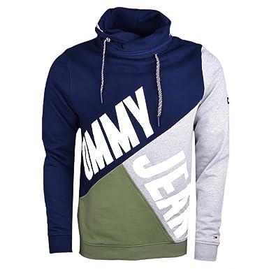 8bbbb879ed80a9 Tommy Jeans TJM Colorblock Funnel Hoodie Herren - S: Amazon.de ...