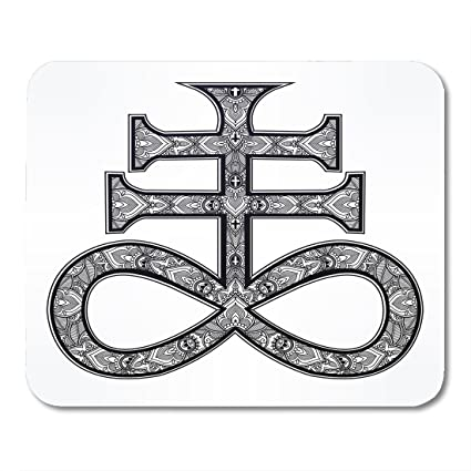 Amazon Boszina Mouse Pads The Satanic Cross Known As Seal Of