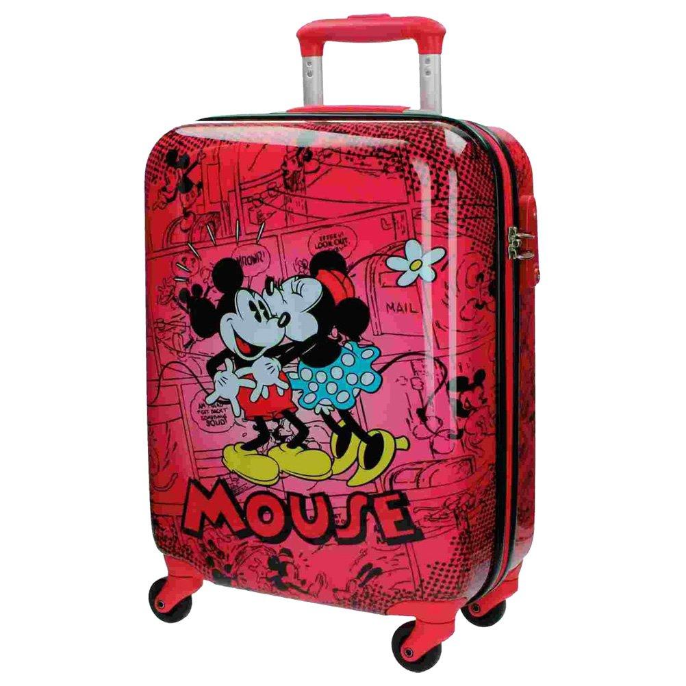 Disney Kabinenkoffer Mickey und Minnie Kindergepäck, 33 Liter, Rot