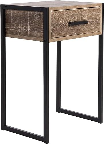 Balkene Home Wooden Nightstand Bedside Table