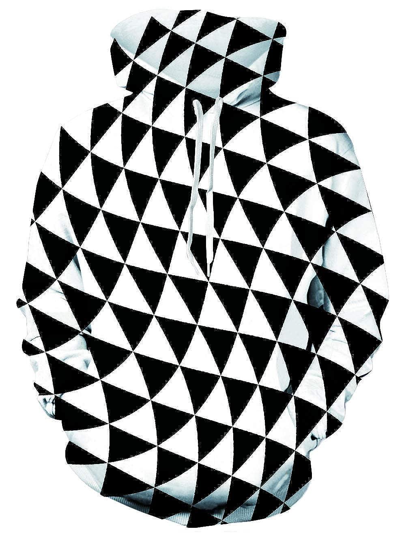 TALLA S-M. chicolife Mujeres Hombres Capucha 3D Impresión Hoodie Sudadera de Manga Larga Ropa Deportiva con Bolsillo para Niño Niña Adolescente