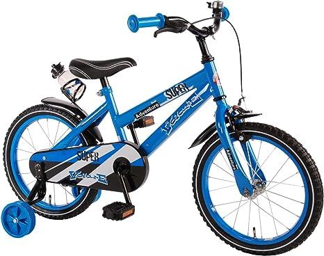 Bicicleta Niño de 16 pulgadas Ruedas Extraíbles Azul - 95% Montado ...