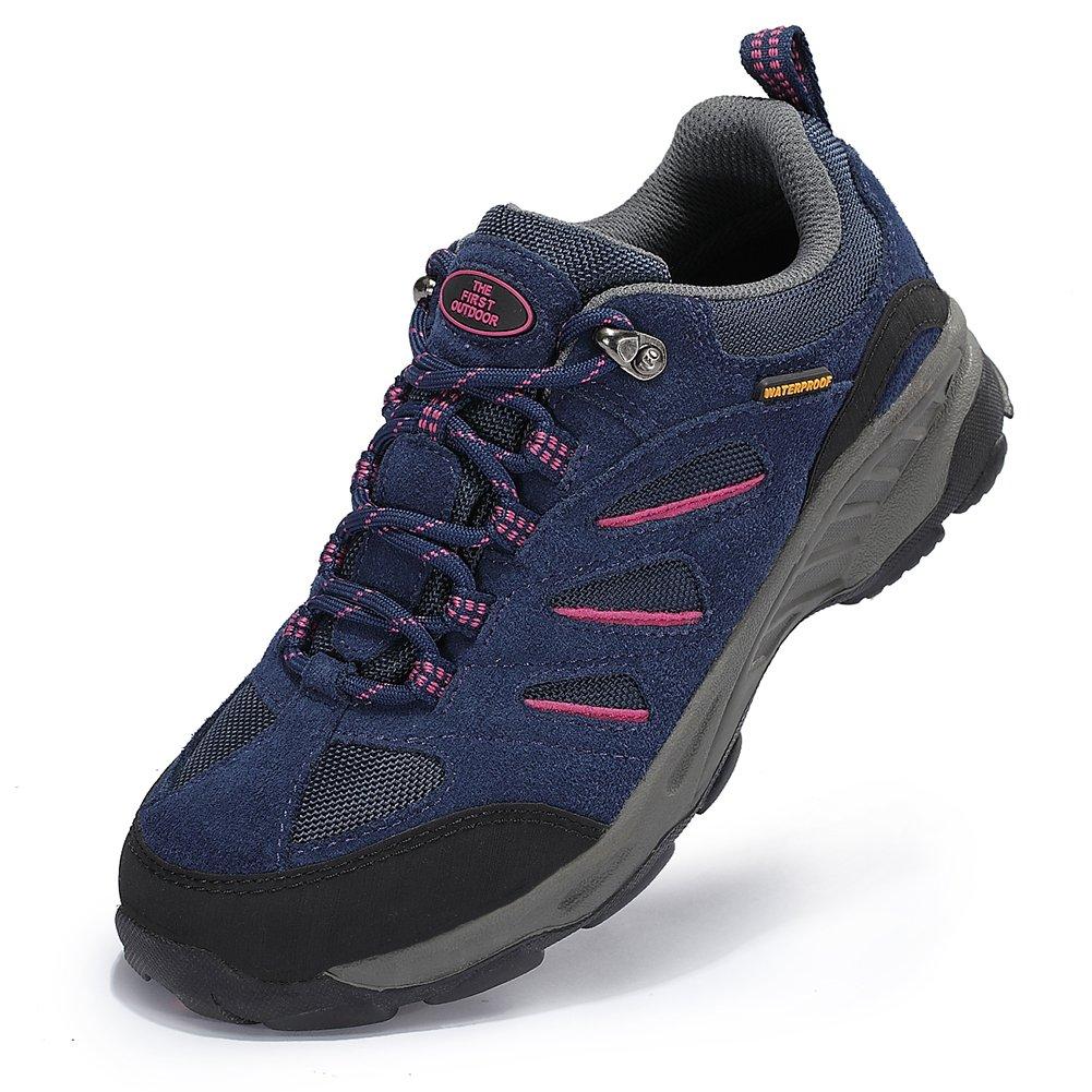 TFO Trekking Schuhe Damen Wasserabweisende und Atmungsaktive Wanderschuhe mit Anti-Rutsch-Sohle (Hersteller-GRÖ SSENT PRODUKTBILD BEACHTEN)