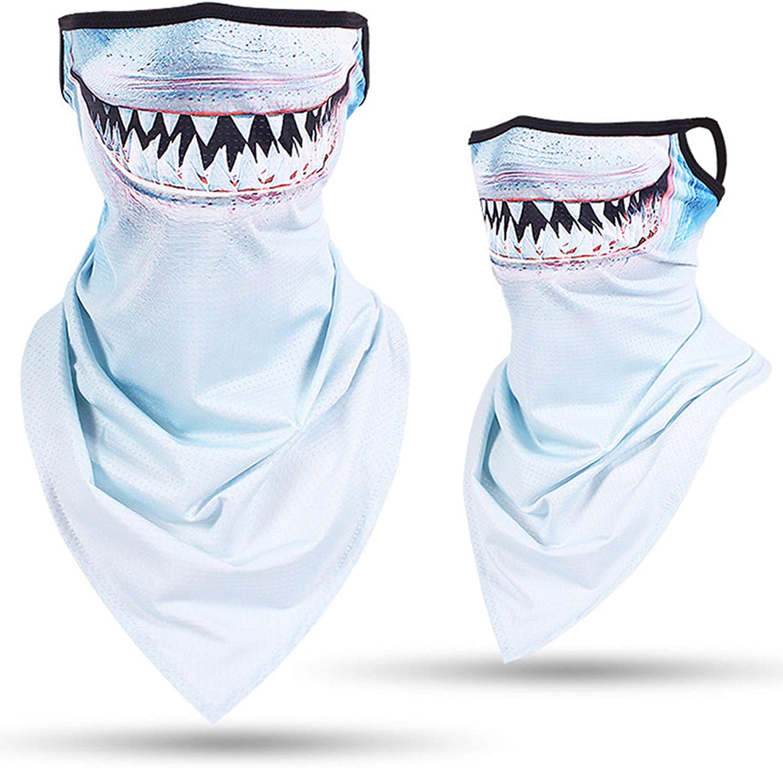 Nethaniah Neck Gaiter 3D Animal Balaclava Warmer Windproof Face Mask Scarf for Ski Halloween Costume