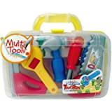 Vinsani 13 Piece Childrens Kids DIY Portable Tool Set Carry Case Play Set Toy