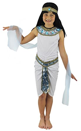 GIRLS EGYPTIAN QUEEN FANCY DRESS COSTUME CHILDRENS CLEOPATRA QUEEN OF THE NILE EGYPT PHARAOH WHITE DRESS  sc 1 st  Amazon UK & GIRLS EGYPTIAN QUEEN FANCY DRESS COSTUME CHILDRENS CLEOPATRA QUEEN ...