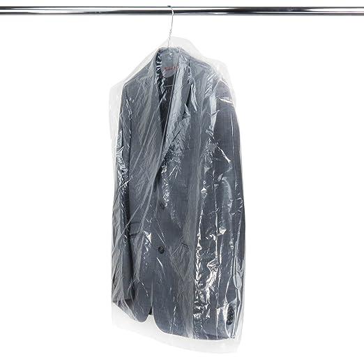 Hangerworld 20 Durchsichtige Kleidersäcke 102x51x10cm Polyethylen Kleiderhüllen 0,02mm Folienstärke