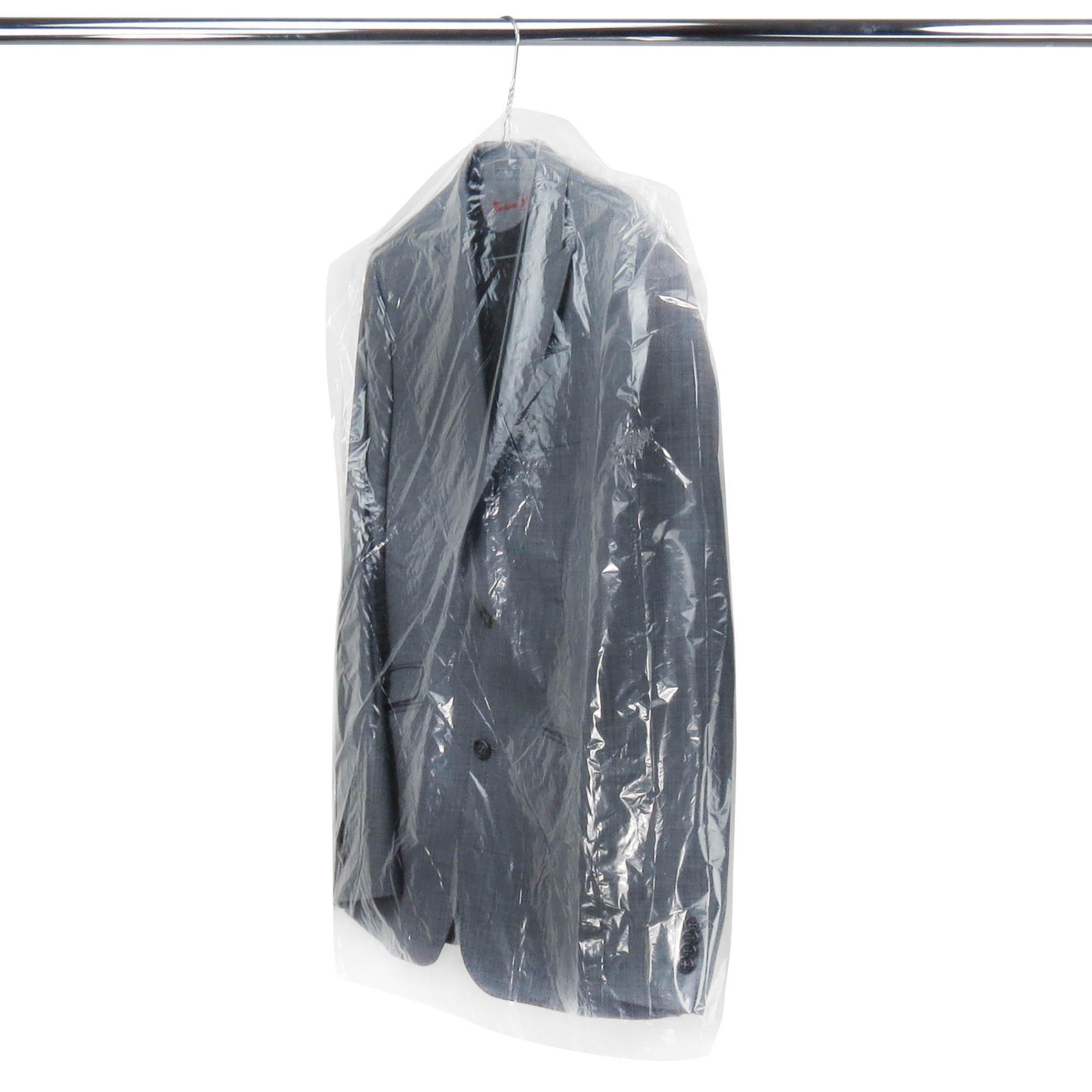 Hangerworld - Fundas Cubre Ropa Protectoras De Plástico Transparente, Especial Tintorerías, 100 cm,