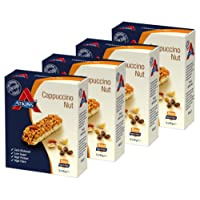 Atkins Cappuccino Nut, Low Carb, High Protein Snack Bar  (4 x 5 bars of 30g)