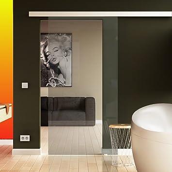 Transparente cristal de vidrio puerta corredera de cristal en 1025 x 2050 mm (ancho x altura) desde el fabricante de marca alemana levidor para interiores/salón – Se entrega con conchas Mango: Amazon.es: